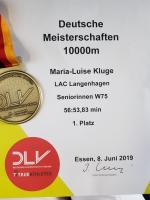 DM 10000m Bahn in Essen 08.06.2019